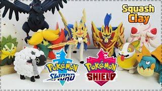 Pokémon Sword and Shield Clay Art!! (Satisfying video)