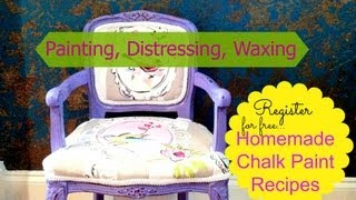 How To Make Homemade Chalk Paint & Furniture Painting Tutorial
