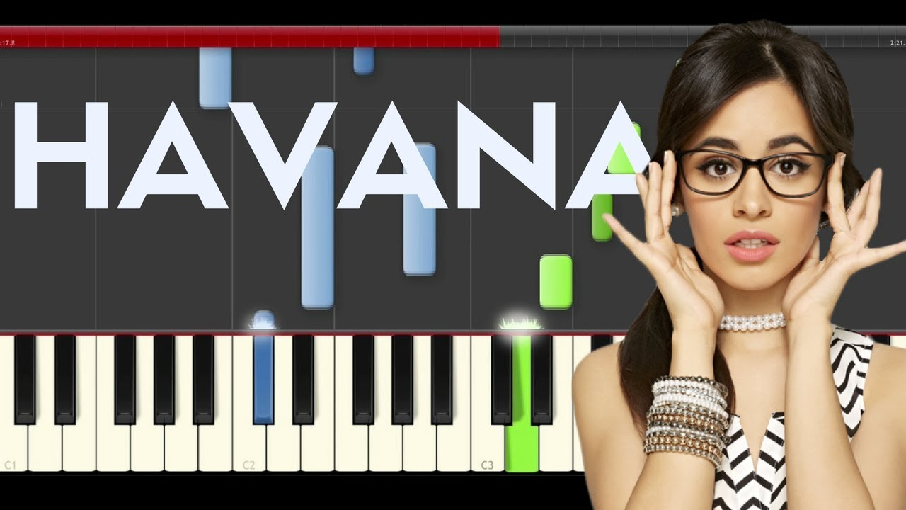 how to play havana on piano easy