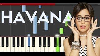 Camila Cabello Havana Young Thug Piano Midi tutorial Sheet app Cover Karaoke