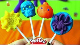 Paletas de Plastilina Halloween| Spooky Halloween Play Doh Popsicles