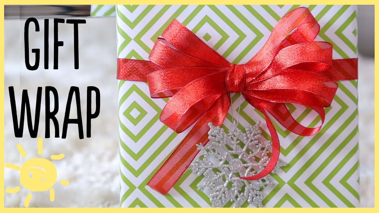 Diy gift wrap ideas how to make a perfect bow youtube solutioingenieria