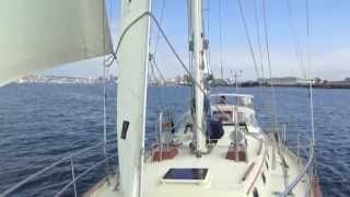 Pacific Seacraft 40 Sailboat Offshore Cruiser for sale Sailing video By: Ian Van Tuy;