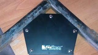 Магнитный угольник. Приспособление для сварки(Магнитный угольник для сварочных работ. Тест на пригодность., 2016-01-16T07:57:36.000Z)