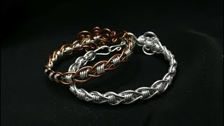 DIY Elegant Simple Twisted Unisex Bracelet | Wire Jewelry Tutorial #9 | by KIÁ
