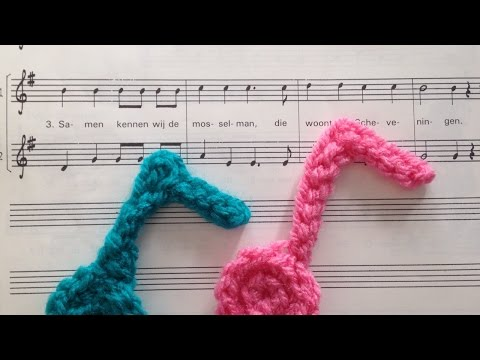 How To Crochet A Cute Eighth Music Note Aplique - DIY Crafts Tutorial - Guidecentral