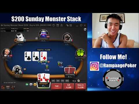 $200 Monster Stack - Are We The Bubble Boy?? | Online Poker Highlights