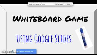 White Board Games   How to Play