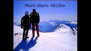 Mont Blanc 4810m die letzten Meter zum Gipfel, 360° Panorama