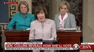 Senator Susan Collins votes yes on Kavanaugh confirmation thumbnail