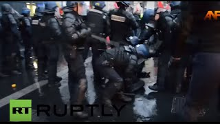 France: Police suppress pro-Kurdish demo after clashes grip Paris