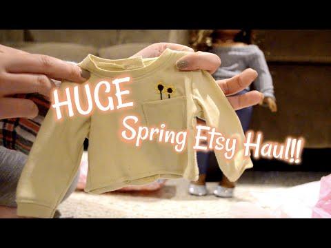 HUGE American Girl Spring Etsy Haul!!