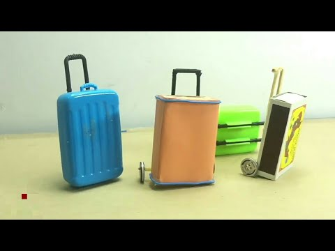 Rolling Luggage Toy for kids   Easy Miniature Furniture DIY