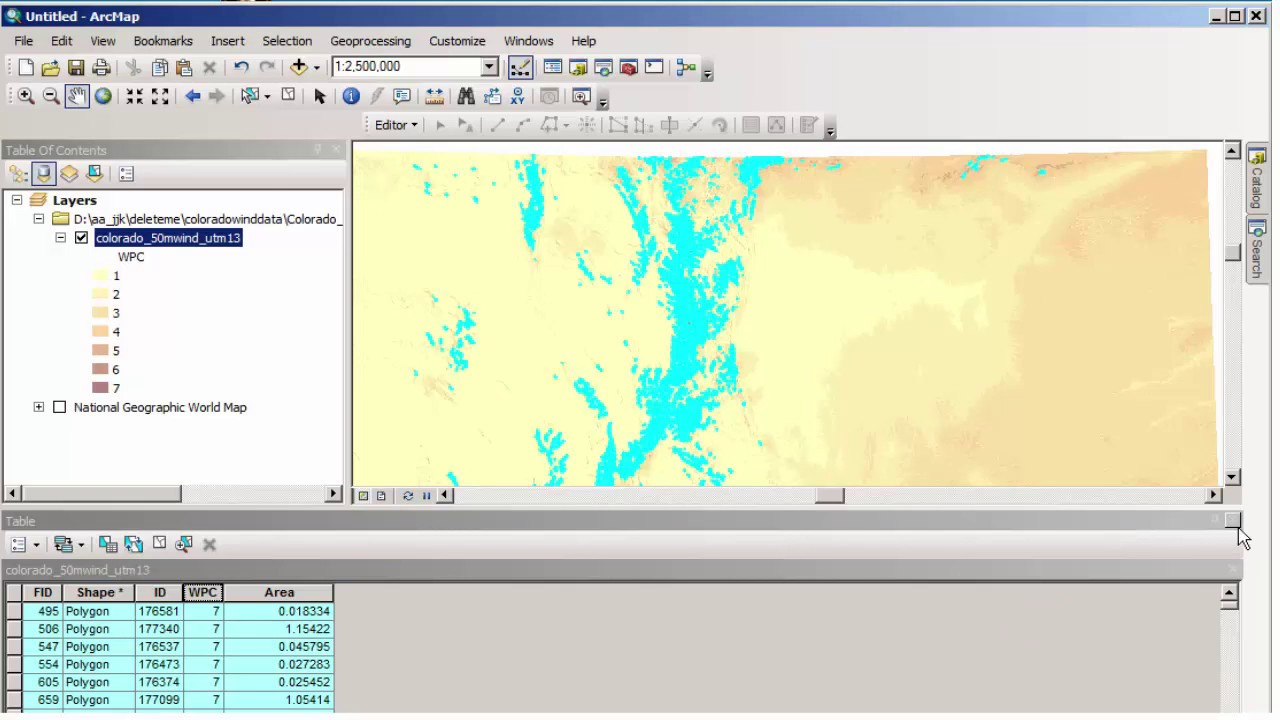 Accessing and Analyzing NREL Wind Data in a GIS environment