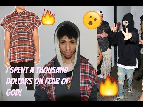 I SPENT OVER A $1000 on FEAR OF GOD!   Vintage black half zip Sherpa & Red sleeveless flannel !