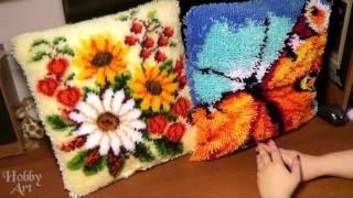 Подушки в ковровой технике. Вервако VS  Китай.(Сравнение наборов в ковровой технике от китайского производителя и от фирмы Вервако . Китайская подушка..., 2015-12-25T17:46:29.000Z)