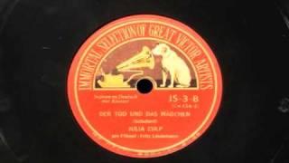 """Julia Culp sings """"Der Tod und das Mädchen"""" by Schubert"""