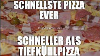 Frische Pizza in unter 19 Minuten -Backpulver Pizzateig- Schneller als Tiefkühlpizza