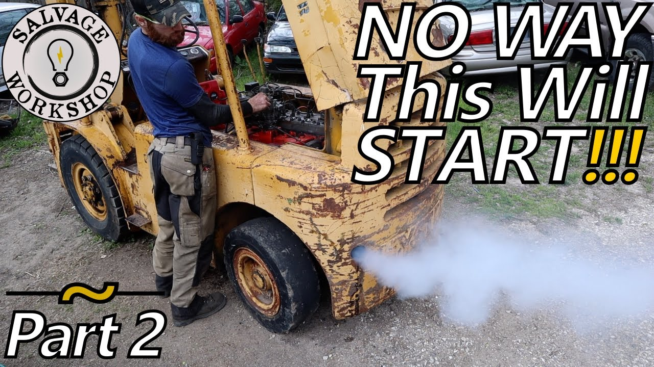 Will the '69 Fork Truck RUN? & Can I DRIVE it HOME? ~  RESCUING a 60's Abused Fork Truck ~ Part 2