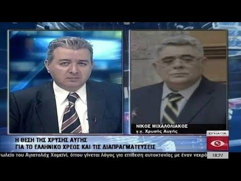 Ν. Γ. Μιχαλολιάκος: Να μην πληρώσει ο Λαός το παράνομο χρέος
