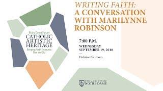 Writing Faith: A Conversation with Marilynne Robinson