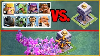 EVERY Troop versus the CRUSHER! Clash of Clans Builder Hall Strongest Defense!