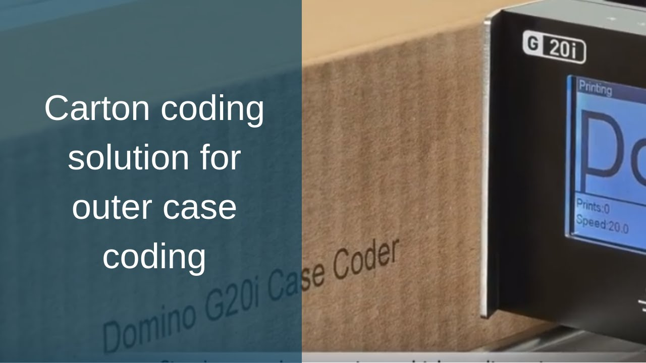 Domino G20i Thermal Ink Jet Printer For Case Coding Youtube Printech Ribbon Pack Refill
