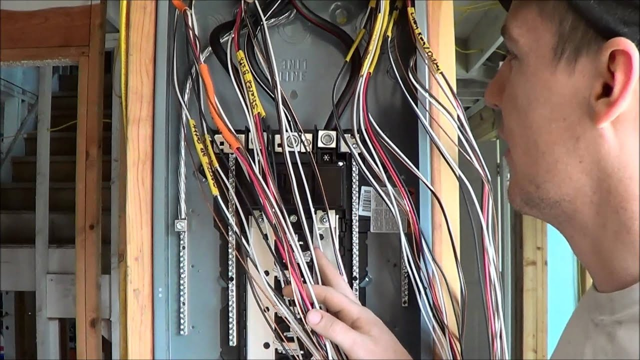 maxresdefault how to wire an electrical panel square d youtube 100 Amp Service Panel Diagram at gsmportal.co