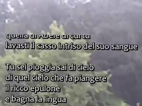Poesia Pioggia Tu Sei Youtube