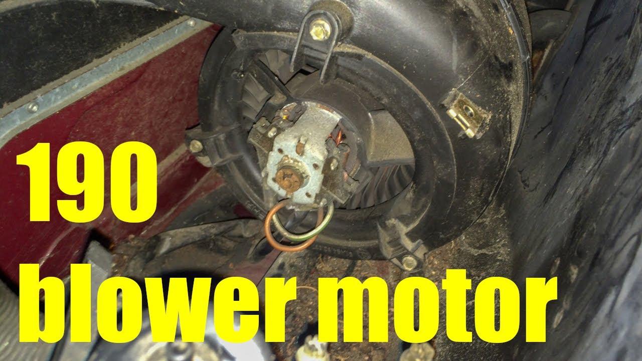 medium resolution of  2002 mercedes 190 w201 heater fan blower motor replacement youtube on furnace blower motor diagram