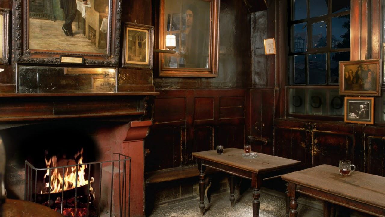 Pub asmr ye olde cheshire cheese in london night for Chesire house