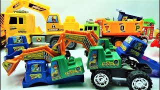 How to dismantle the super excavator truck, truck toys and car toys for kids