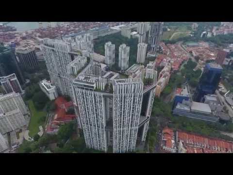 Singapore Tanjong Pagar View (DJI Phantom 4)