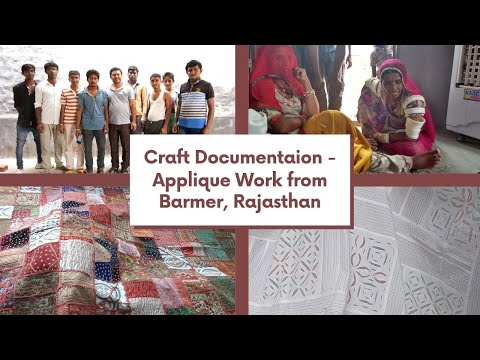 Craft Documentation: Applique work from Barmer District, Rajasthan