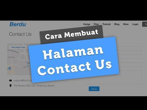 Membuat Halaman Contact Us (Hubungi Kami) - Berdu.id