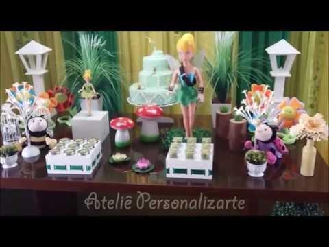 Decoração de festa infantil Tinker Bell (Sininho)