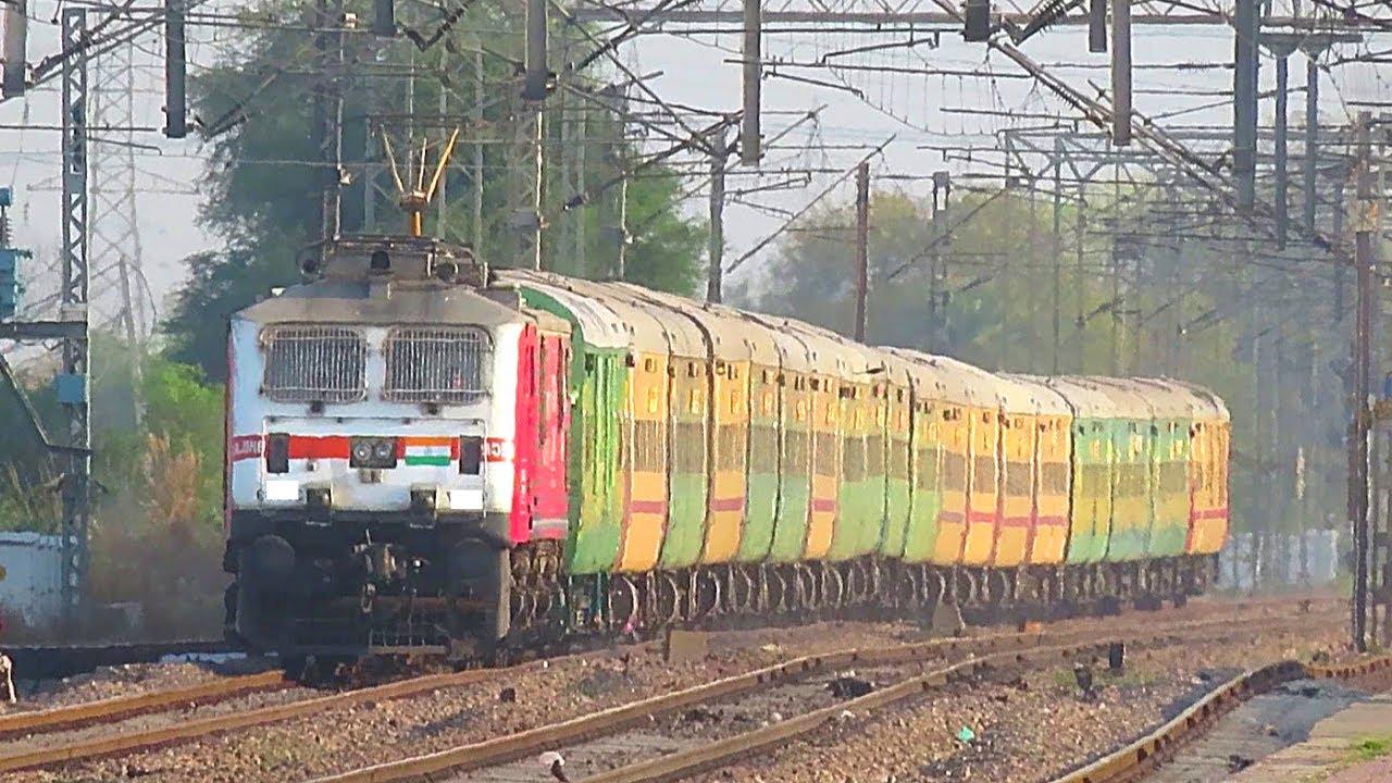 Fastest & Colorful Garib Rath of Indian Railways - GOEL TMT WAP-7 - Mumbai Bandra