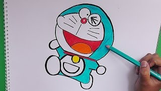 Dibujando y coloreando a Doraemon - Drawing and coloring Doraemon