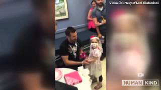 Little girl fighting cancer 'marries' her favorite nurse
