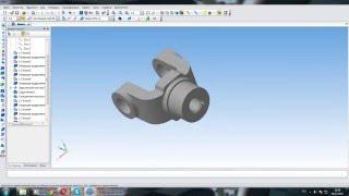 КОМПАС-3D Вилка 1 урок