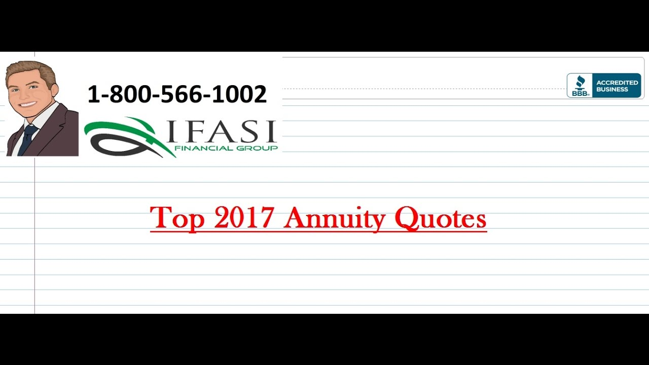 Annuity Quotes Top 2017 Annuity Quotes  Youtube