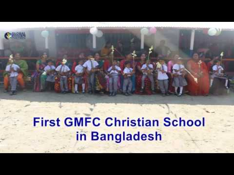 Children Singing in the First GMFC School in Khulna, Bangladesh