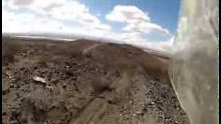 Easy rock trail climb in Shadow Mountains El Mirage Dry Lake BLM.avi