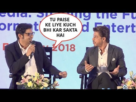 Arnab Goswami Insults Shah Rukh Khan Publicly, SRK's Reply WIll Blow Your Mind