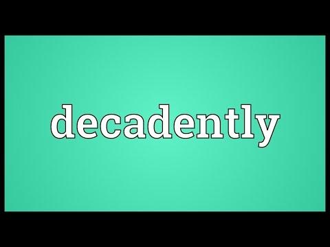 Header of decadently