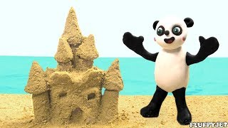Baby Panda Made Sandcastle | Have Fun with Baby Pandas Cartoon