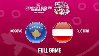 Kosovo v Austria - Full Game - FIBA U16 Women's European Championship Division B 2019