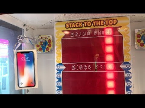 iPhone X STACKER ARCADE GAME WIN!!!
