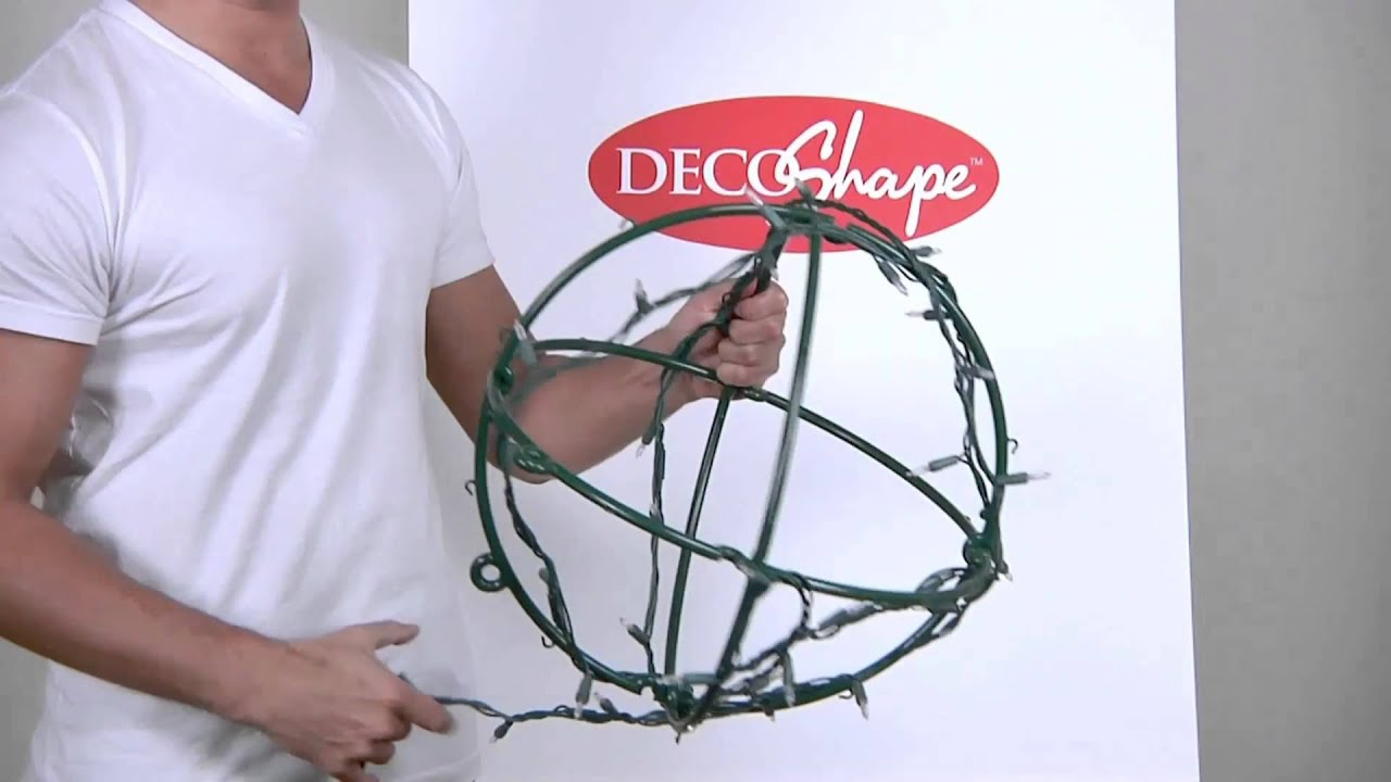 Christmas Light Balls made easy with DecoShape Light Globes - YouTube