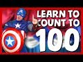 1⃣0⃣0⃣  Learn To Count To 100 With Captain America 🇺🇸 Superhero Sing Along Songs